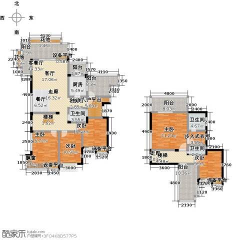 倍特领尚5室1厅3卫1厨283.00㎡户型图