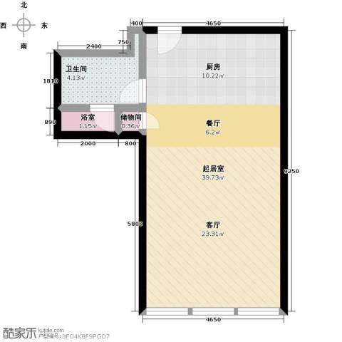 德胜凯旋公寓1卫0厨77.00㎡户型图