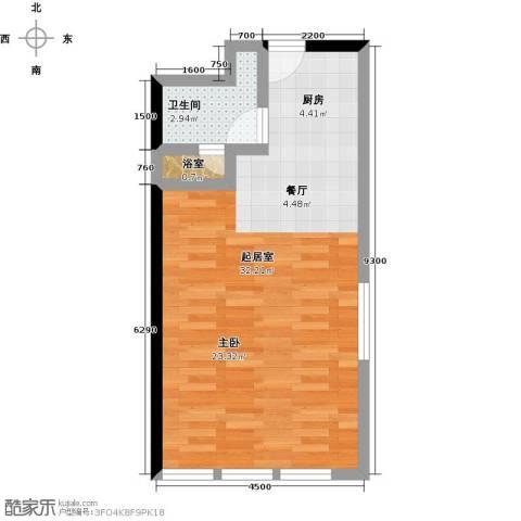 德胜凯旋公寓1卫0厨66.00㎡户型图