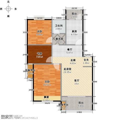 喜利达名苑3室0厅1卫1厨112.00㎡户型图