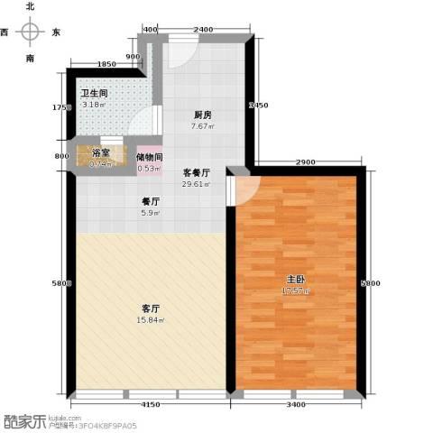 德胜凯旋公寓1室1厅1卫0厨89.00㎡户型图