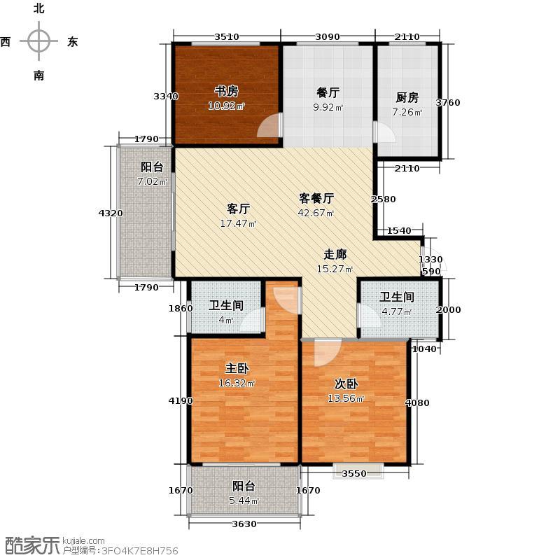 梦溪嘉苑户型3室1厅2卫1厨