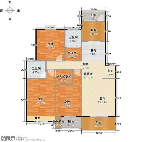 喜利达名苑3室0厅2卫1厨162.00㎡户型图