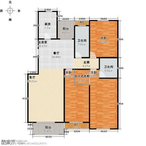 石家庄国粹3室0厅2卫1厨191.00㎡户型图