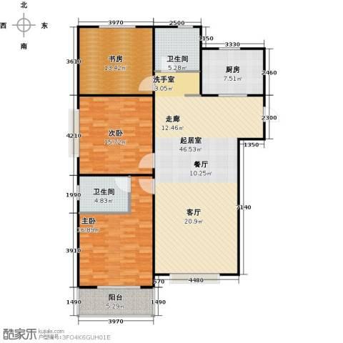 石家庄国粹3室0厅2卫1厨123.00㎡户型图