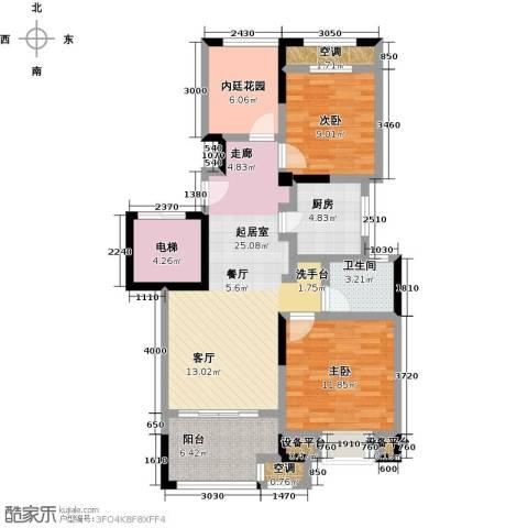 新城春天里2室0厅1卫1厨88.00㎡户型图