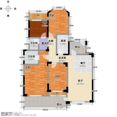 城置金色年华4室0厅2卫1厨144.00㎡户型图