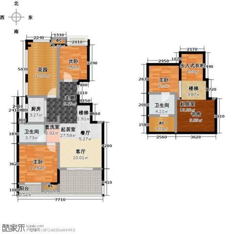 国贸仁皇3室0厅2卫1厨110.74㎡户型图