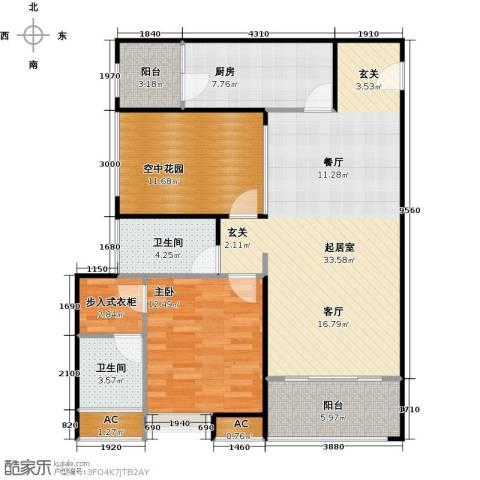 德州华嬉盛世1室0厅2卫1厨118.00㎡户型图