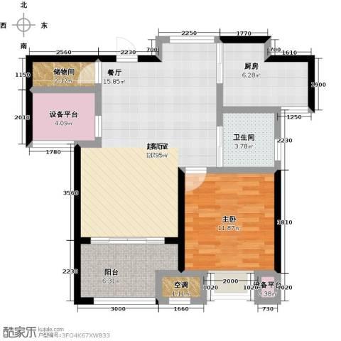 新城春天里1室0厅1卫1厨94.00㎡户型图