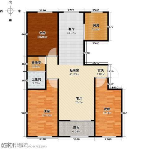 科技鑫城3室0厅1卫1厨145.00㎡户型图