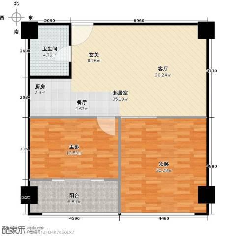 科技鑫城2室0厅1卫0厨109.00㎡户型图