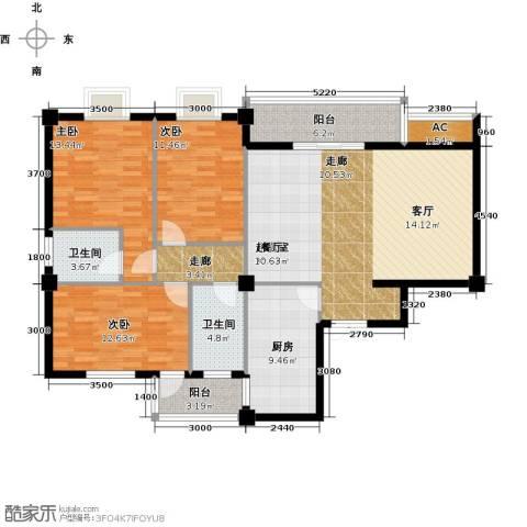 南苑之星二期3室0厅2卫1厨130.00㎡户型图