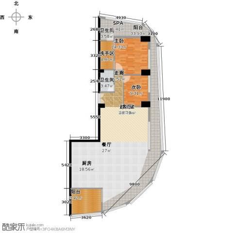 钻石海岸2室0厅1卫0厨148.32㎡户型图
