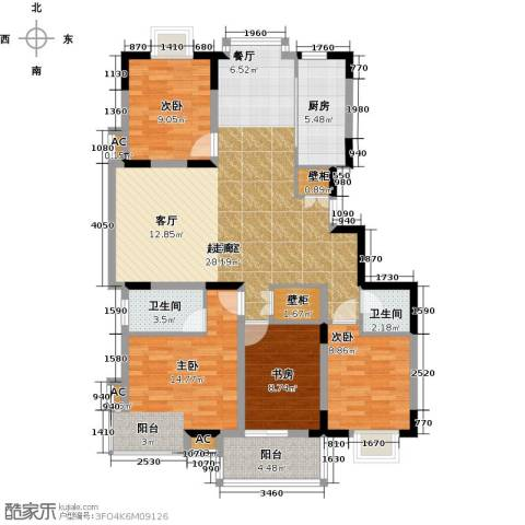 历山名郡一期4室0厅2卫1厨143.00㎡户型图