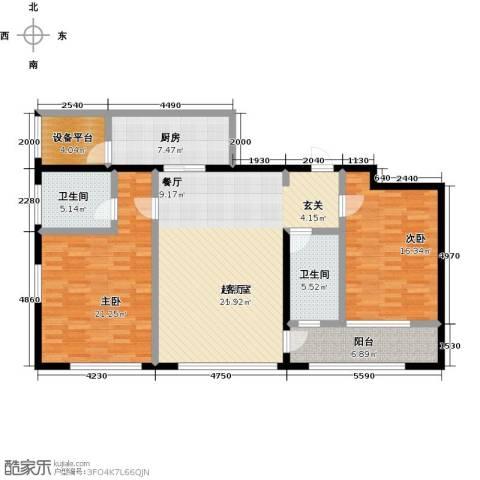 佳木公园1982室0厅2卫1厨123.00㎡户型图