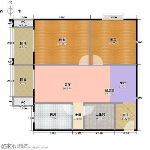 瑞丽江畔1卫1厨98.00㎡户型图
