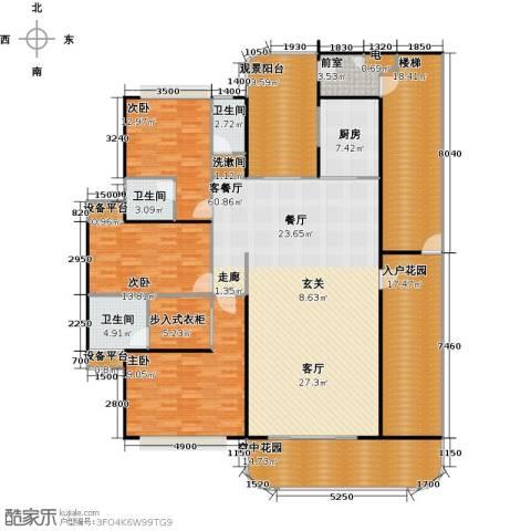 金信凤凰花园3室1厅3卫1厨269.00㎡户型图