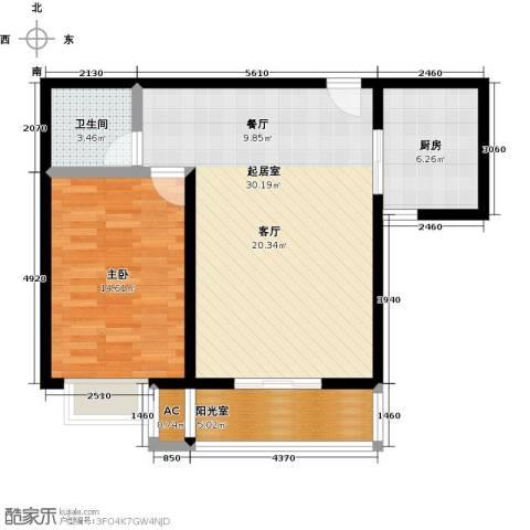 吉隆公寓1室0厅1卫1厨69.00㎡户型图