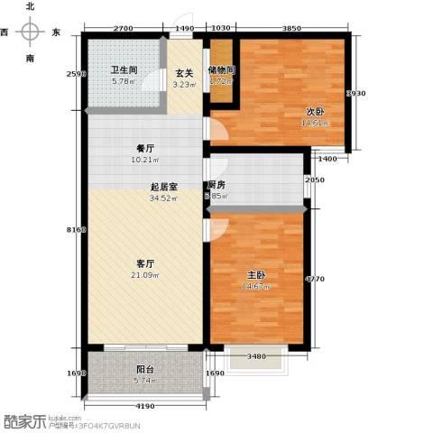 阳光绿城2室0厅1卫1厨93.00㎡户型图