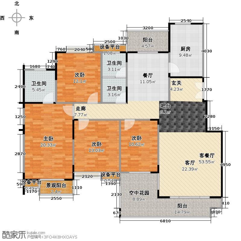 弘吉西子湖畔161.38㎡四房二厅二卫-161.38-17套户型