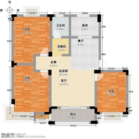 世纪绅城3室0厅1卫1厨108.00㎡户型图