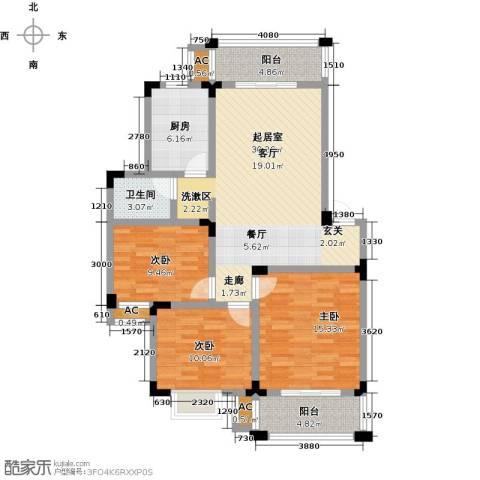 世纪绅城3室0厅1卫1厨99.00㎡户型图