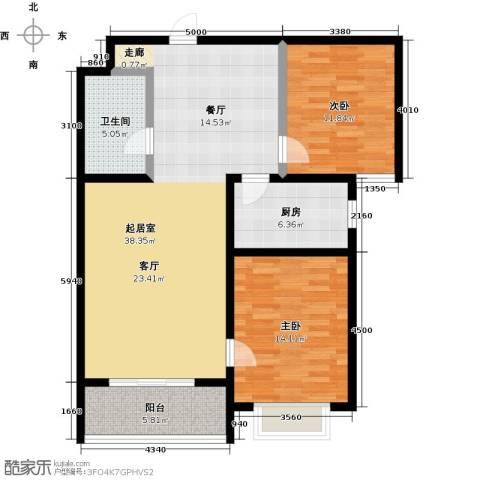 橙市阳光2室0厅1卫1厨93.00㎡户型图