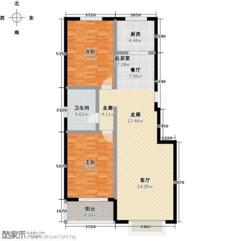 橙市阳光2室0厅1卫1厨112.00㎡户型图