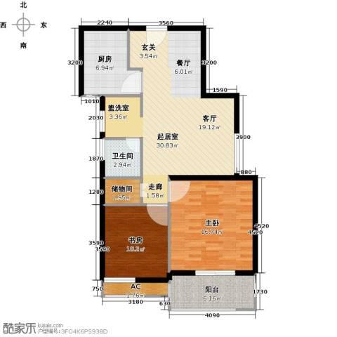 托乐嘉2室0厅1卫1厨87.00㎡户型图