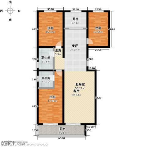橙市阳光3室0厅2卫1厨137.00㎡户型图