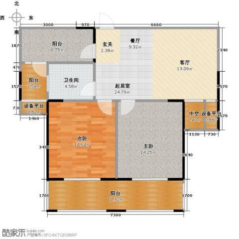 运河春天2室0厅1卫0厨88.70㎡户型图