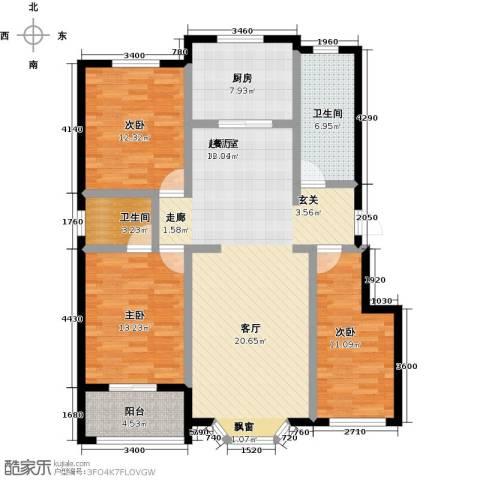 莲花山庄3室0厅2卫1厨141.00㎡户型图