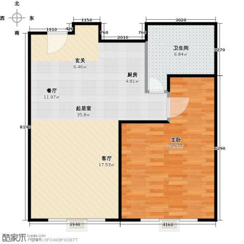新年华SOHO1室0厅1卫0厨67.00㎡户型图
