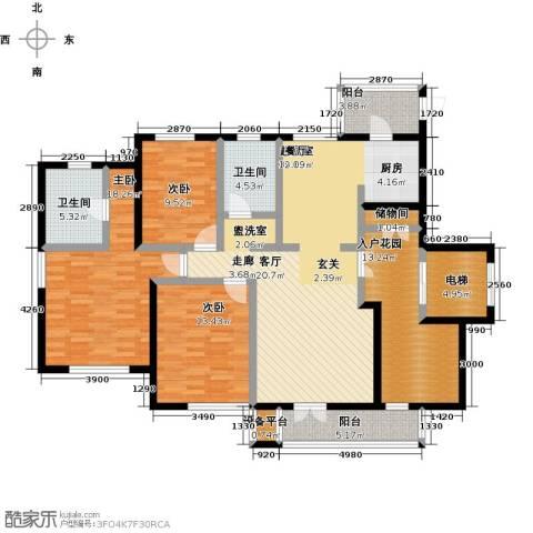 世纪梧桐公寓3室0厅2卫0厨141.00㎡户型图
