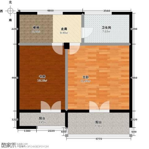 西现代城2室0厅1卫0厨65.32㎡户型图
