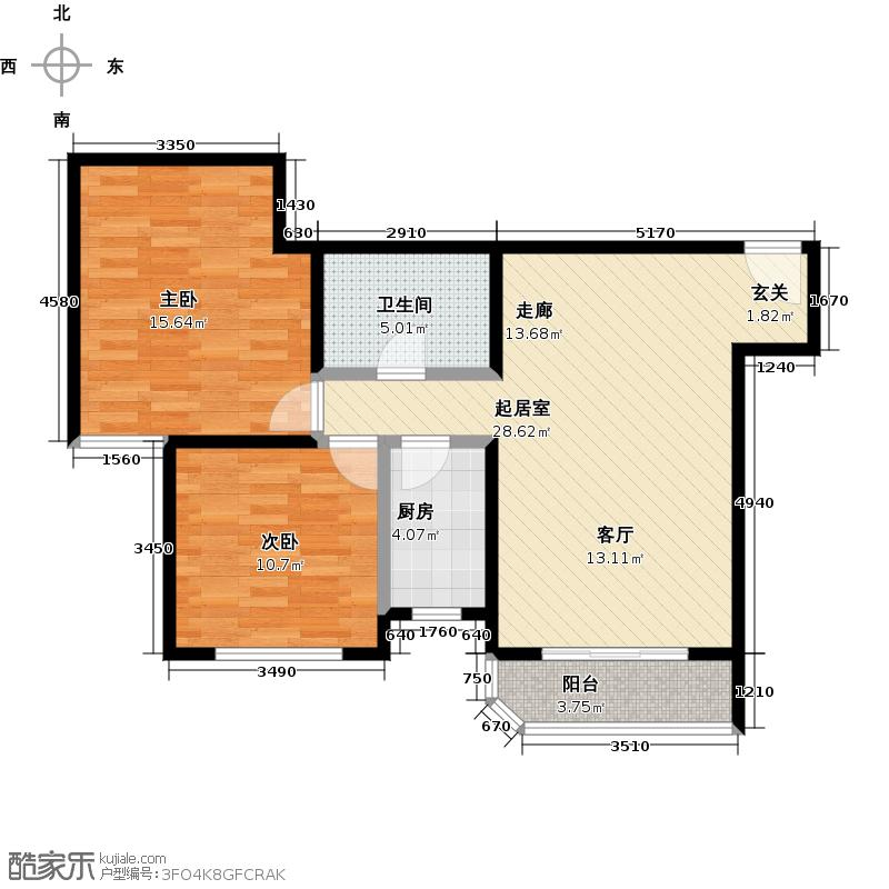 西现代城两室一厅户型LL