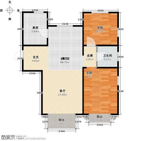 金海城1室0厅1卫1厨91.00㎡户型图