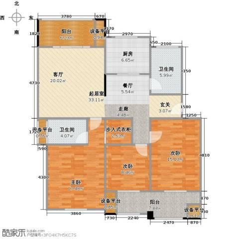 喜利达名苑3室0厅2卫1厨150.00㎡户型图