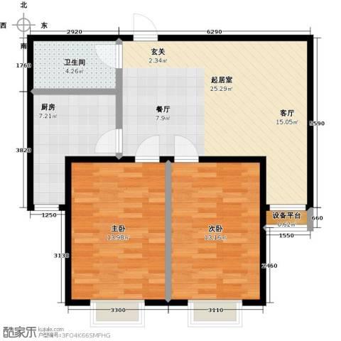 顺鑫・山语溪2室0厅1卫1厨78.00㎡户型图