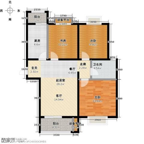 顺鑫・山语溪3室0厅1卫1厨101.00㎡户型图