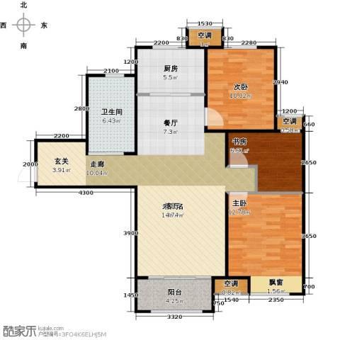 中建城3室0厅1卫1厨83.99㎡户型图