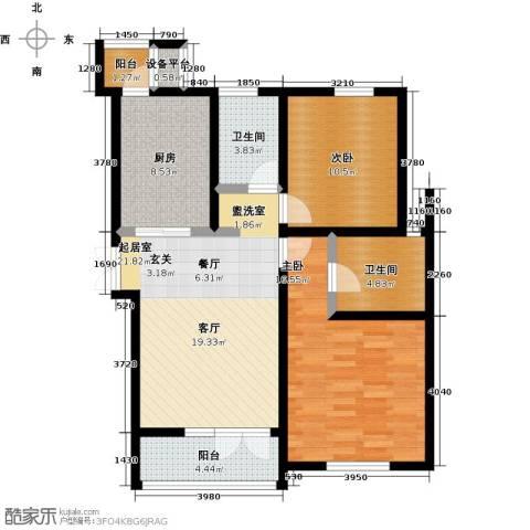 世纪梧桐公寓2室0厅2卫1厨115.00㎡户型图