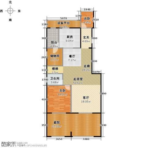 锦业观墅2室0厅1卫1厨245.00㎡户型图