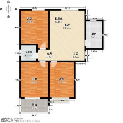 碧水秀城3室0厅1卫1厨112.00㎡户型图