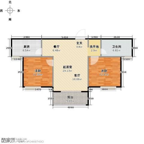泰和世家2室0厅1卫1厨92.00㎡户型图