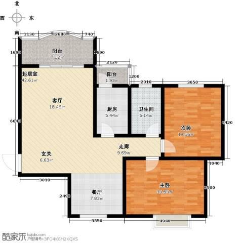 碧水秀城2室0厅1卫1厨103.00㎡户型图