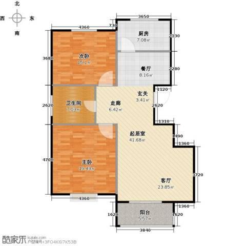泰和世家2室0厅1卫1厨102.00㎡户型图