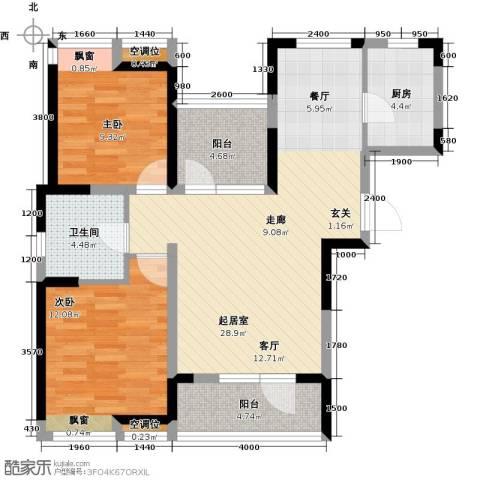 景瑞阳光尚城2室0厅1卫1厨94.00㎡户型图