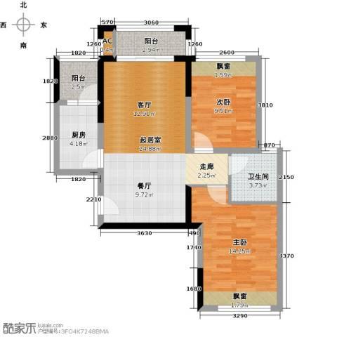 光谷8号2室0厅1卫1厨85.00㎡户型图